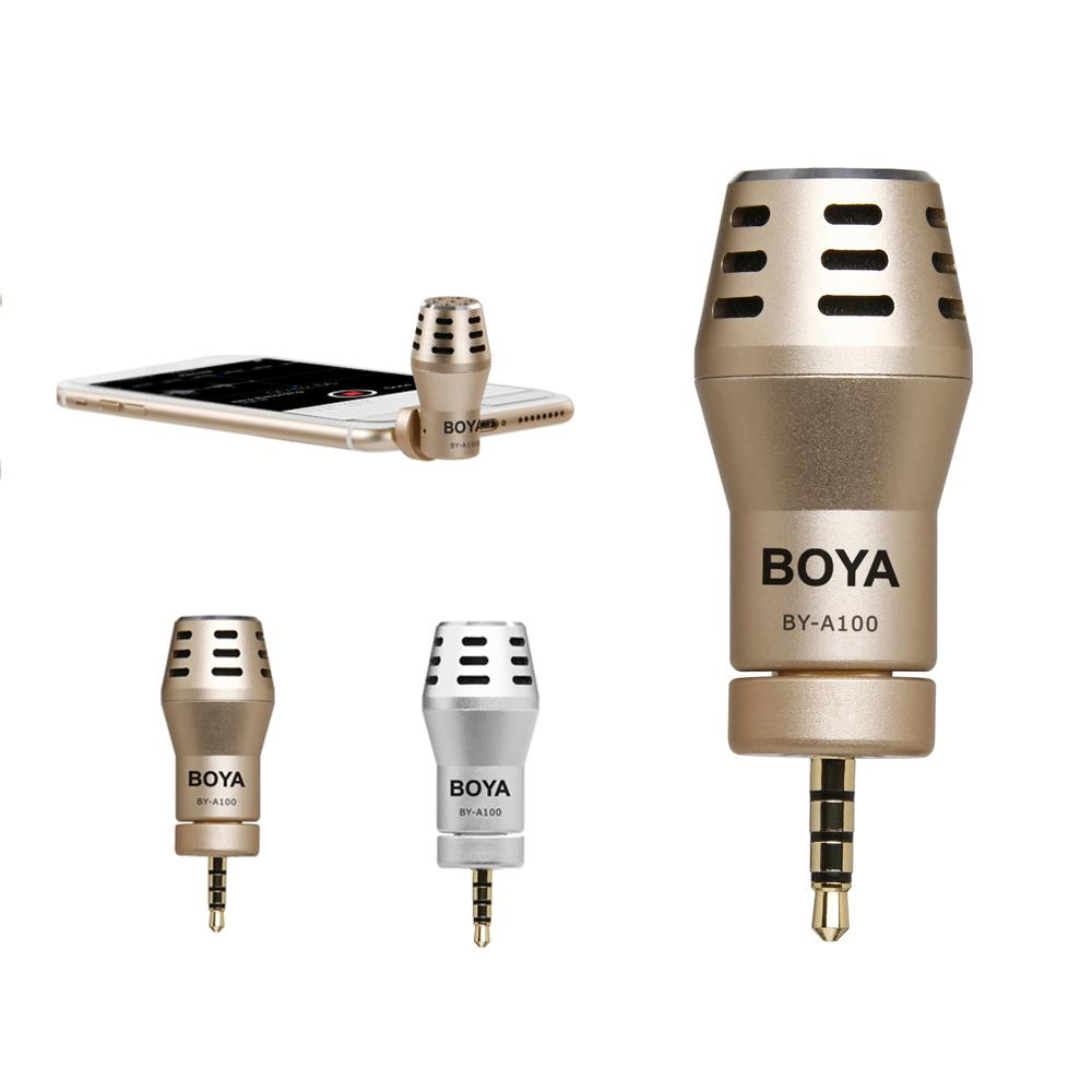 BOYA BY-<font><b>A100</b></font> Omni Directional Condenser Phone Microphone for iPhone 6/6S/5/5S iPad iPod Android <font><b>Samsung</b></font> S6 S5 S4 HTC image