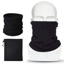 Men Unisex Winter Thicken Polar Fleece Balaclava Neck Warmer Solid Motorcycle Face Mask Windproof Helmet Liner Head Hood Cover