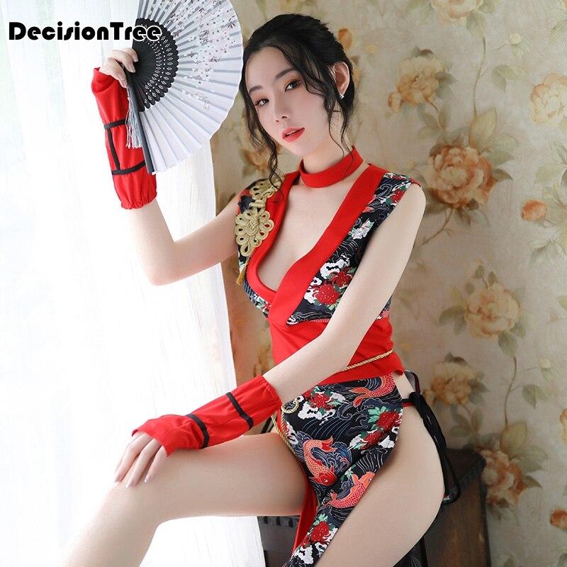 2019 Japanese Clothing Kimono Dress Sexy With Obi Yukata Kimonos Mujer Erotic Lingerie Sexy Costumes Halter Hollow Out Clubwear