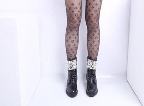 [GOGD] 2019 kışlık botlar kadın sonbahar ve kış düz deri çizmeler kadın inci yuvarlak ayak