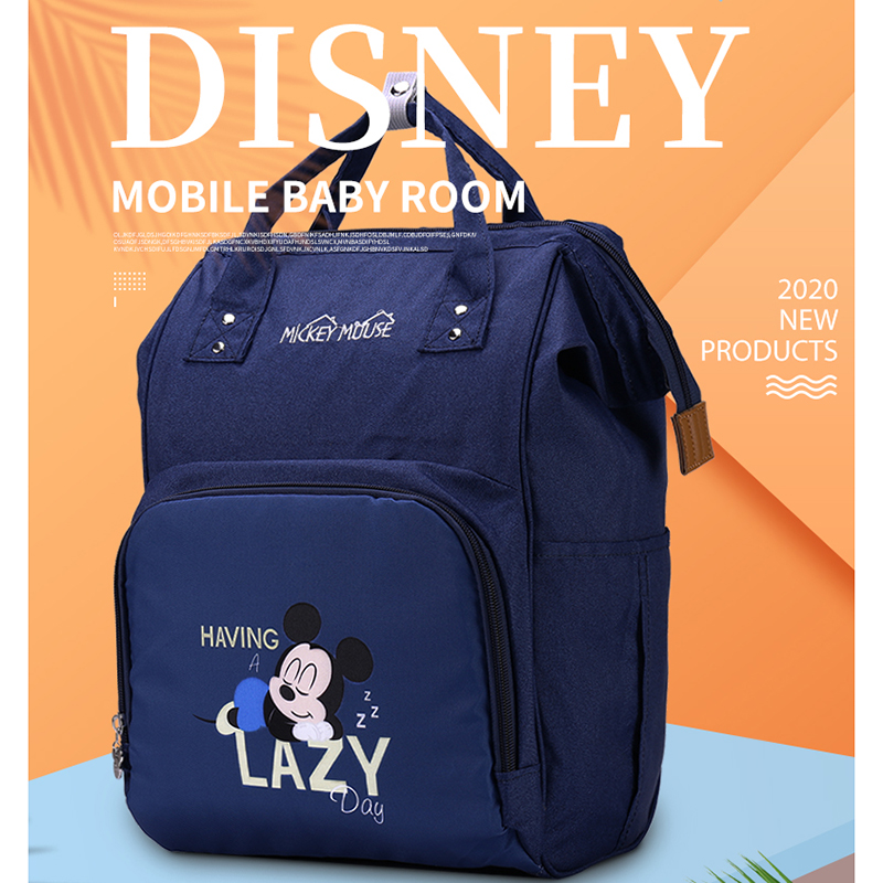 Disney Bag New Cute Minnie Mickey Diaper Bag Baby Care/Maternity Backpack Bag Large Nappy Bags Diaper Bags For Baby Backpack
