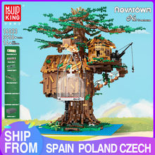 MOC Mold King 16033 Creative Toy Tree House With LED Parts Model Assembly Building Blocks Bricks Children Birthday Gifts
