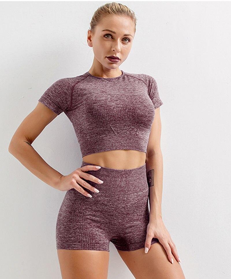 6 cores conjunto yoga terno do esporte