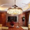 Европейский Невидимый вентилятор свет роскошный хрустальный отель потолочная лампа модная гостиная столовая спальня простой потолочный в...
