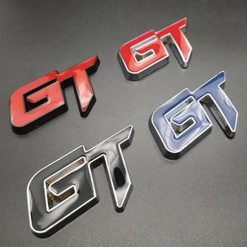 цена на Car styling 3D metal GT Emblem stickers Auto Chrome Badge Decal For Ford vw BMW audi Alfa Romeo Mercedes Benz KIA Volkswagen