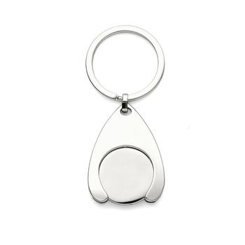 100Pcs Personalized Wedding Present For Guests Customized Engraved Keychain Rings Bulk Advertising Gift With Organza Bag