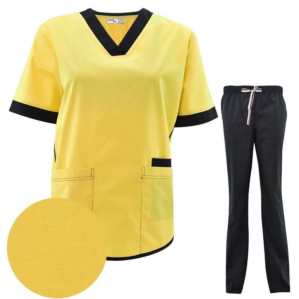Hospital Doctors Medical Sets Short-sleeved Uniforms Suits Dental Clinic Beauty Salon Workwear Clothes Nursing