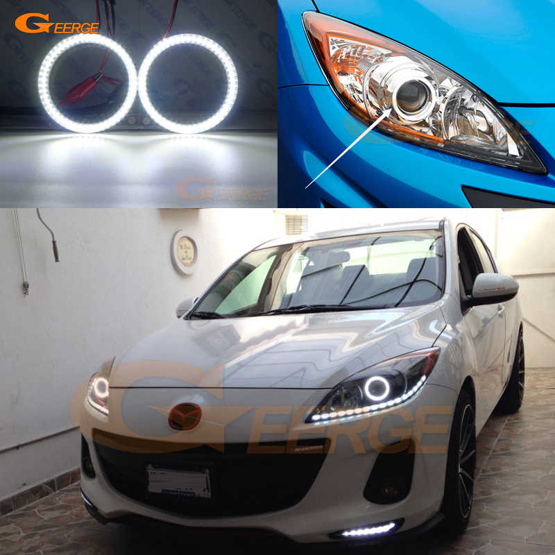 Pour Mazda 3 mazda3 BL 2009 2010 2011 2012 2013 Excellent éclairage Ultra lumineux smd led ange yeux kit DRL