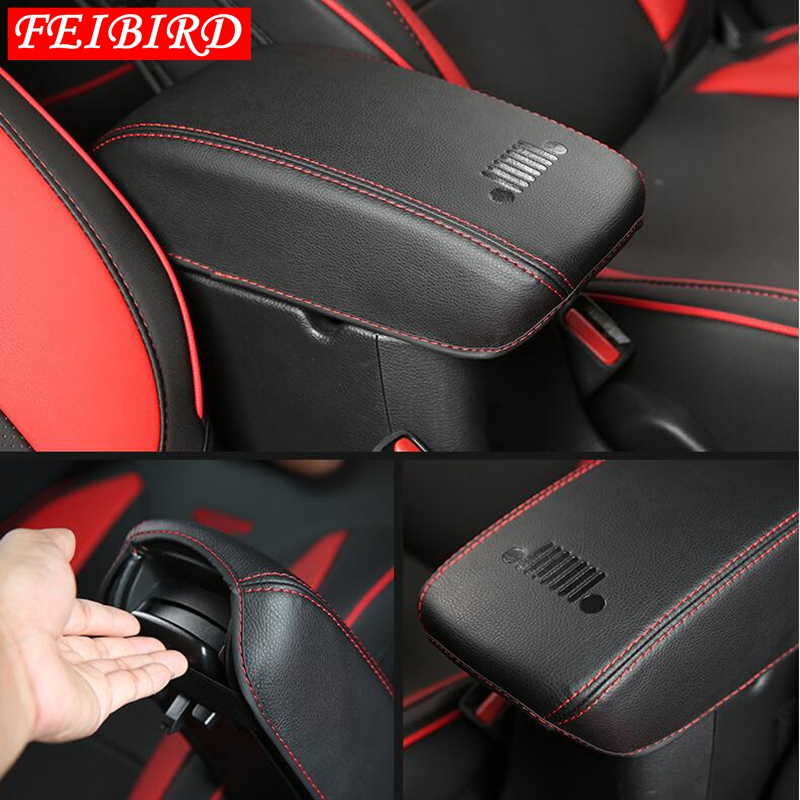 Center Console Seat Armrest Box Protection Pad Molding Cover Kit Trim Accessories Fit For <font><b>Jeep</b></font> <font><b>Compass</b></font> 2017 2018 <font><b>2019</b></font> image
