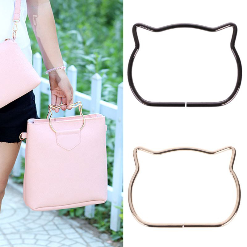 High Quality Cute Cat Ear Metal Bag Handle Replacement For DIY Shoulder Bags Making Handbag