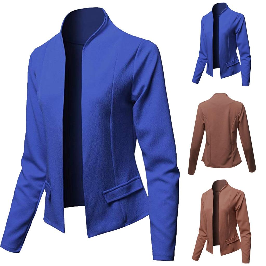 Autumn New Fashionn Women Fit Blazer Tops Long Sleeve Jacket Ladies Office Wear Cardigan Coat Wholesale Free Ship Z4