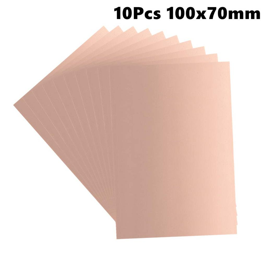 10Pcs 100x70mm Double-Sided Copper Clad Laminate PCB Circuit Board FR4 1.5mm