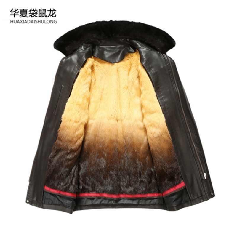 남자 천연 가죽 자 켓 남성 가짜 양모 자 켓 남자 이탈리아어 디자인 브랜드 코트 겨울 캐시미어 코트 남자 플러스 크기 XXXL 6XL