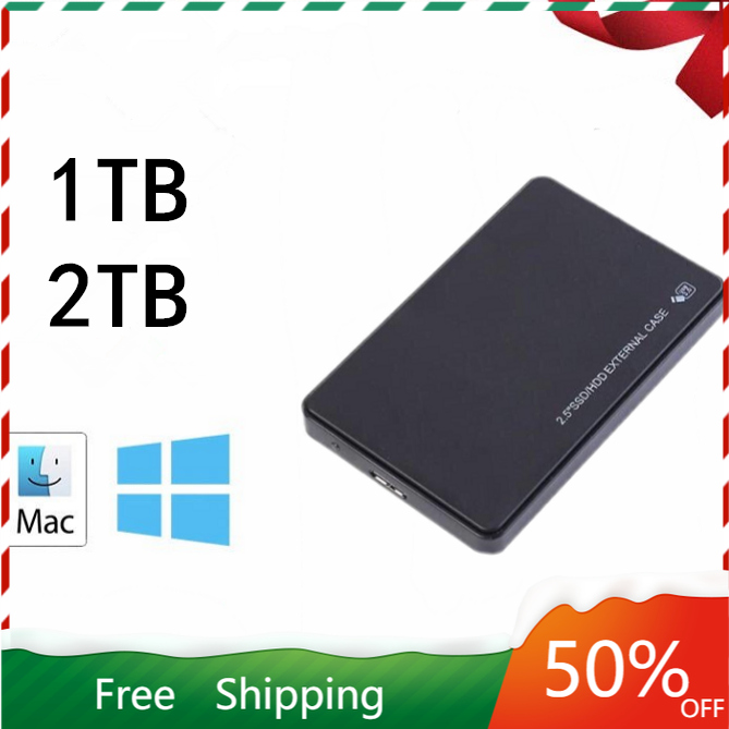 2.5 Mobile 1TB 2TB Hard Disk USB3.0 SATA3.0 HDD disco duro externo External Hard Drives for Laptop/Mac/Xb