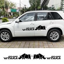 2 uds para Suzuki Grand Vitara en MT 4X4 fuera de la carretera coche puerta, carrocería etiqueta deportivo de estilismo de Auto ambos lados pegatinas accesorios para coche