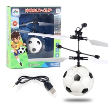 RC Helicopter Infrared Indcution Sensor Flying Ball with Luminous Light Hand Control Football Aircraft Drone for Children