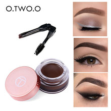 O.TWO.O Eyebrow Gel 6 Colors 3D Natural Brown Eye Brow Shade Make Up Profesional Long Lasting Brow Paint Cosmetics With Brush()