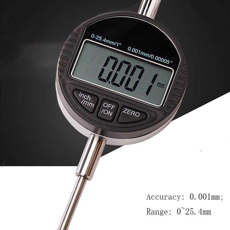 Цифровой циферблат индикатор 0,01 0,001 25,4 мм 12,7 мм циферблат индикатор измерительный инструмент 0-12,7/0-25,4 м
