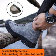Kuclut męskie zimowe obuwie ochronne utrzymuj ciepłe obuwie robocze wodoodporne odporne na uderzenia oddychające męskie buty damskie ze stali buty z palcami tanie tanio Pracy i bezpieczeństwa CN (pochodzenie) Mesh (air mesh) ANKLE Stałe Dla dorosłych Okrągły nosek RUBBER Lato Mieszkanie (≤1cm)
