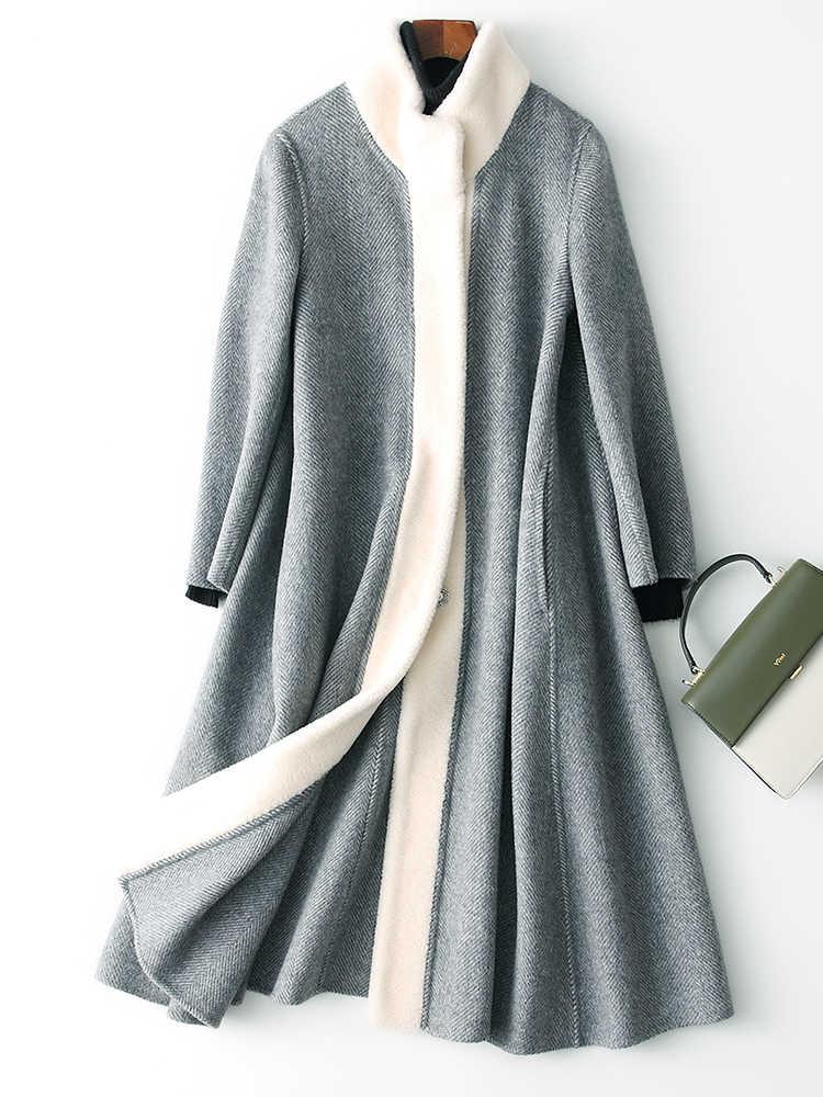 Side Dubbele Wollen Jas Vrouwelijke Alpaca Lange Jas 2020 Herfst Winter Jas Vrouwen Koreaanse Wollen Jassen Casaco Feminino Mijn Nl S