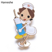 Новая медсестры шприц эмалированная брошь модные милые мультфильм отворот булавки для докторов медицинский персонал ювелирные изделия ак...