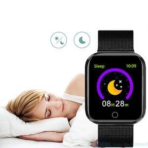 Image 5 - Mode Stahl Smart Uhr Männer Frauen Bluetooth Smartwatch Damen Fitness Armband Herz Rate Android IOS Telefon Herren Smart uhr