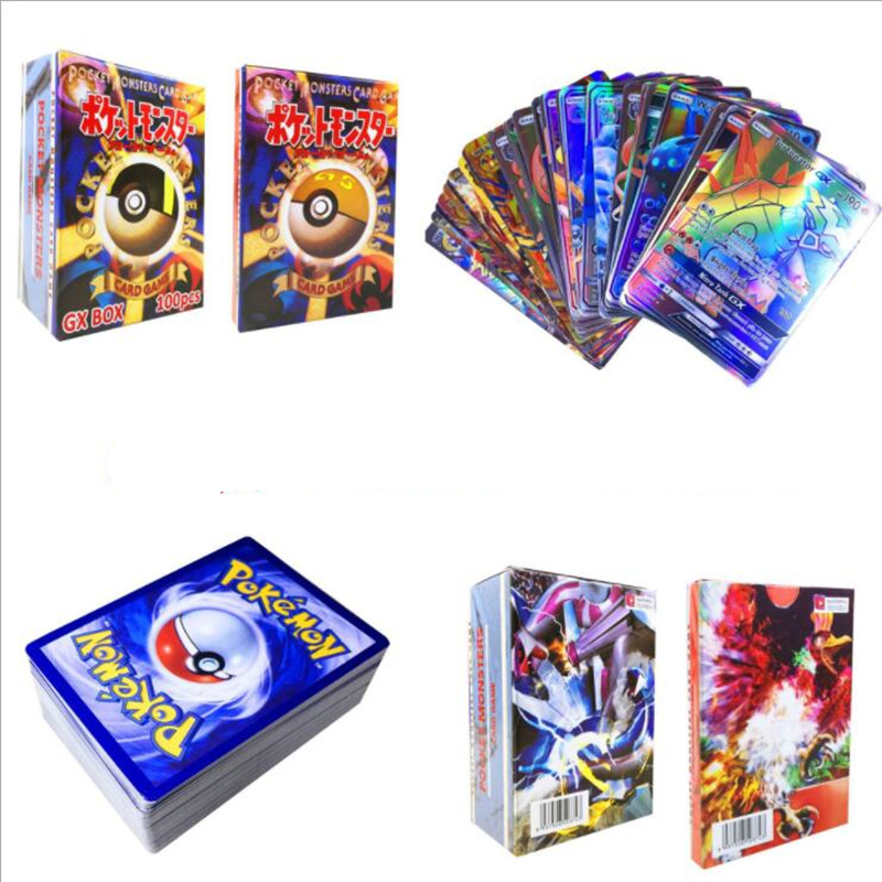 120pcs 115GX 5MEGA Non Repeat Shining Cards Game Battle Carte Trading Children Pokemon Card Toy