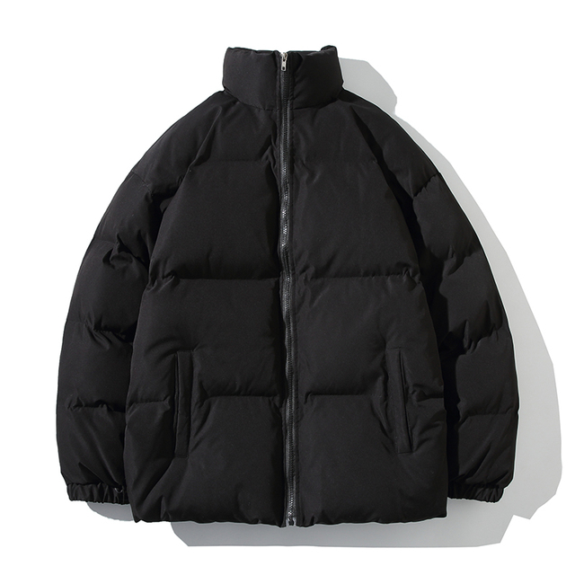 Winter Jacket Men Parkas Thicken Warm Coat Mens Stand Collar Jackets Solid Color Parka Coat Women Fashion New Streetwear 5XL 1