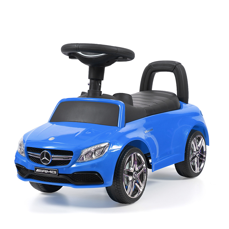 Mercedes Kids Foot-to-Floor Ride-On Push Car Baby Unisex Music Four Wheel Car Toys Funny Outdoor Children Play Toy Gift T0838