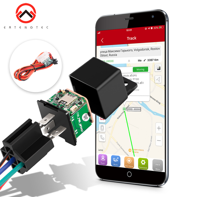 Vehicle Tracker Car MV730 Hidden Design Cut Off Fuel Shock Tow Alert GPS Moto ACC Detection Relay Mini GPS Tracker Car Tracker 1