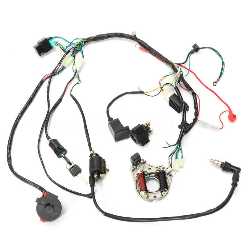 atv wiring kit 50 70 90 110 125cc cdi wire harness assembly wiring kit atv  wire harness assembly wiring kit atv