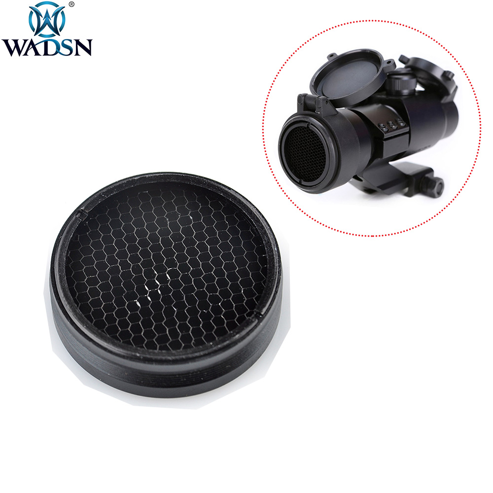 WADSN Airsoft Rifle Killflash Kill Flash For M2 / M4 Red Dot Series Military 30mm Green Dot Sight Metal Mesh Scope Protector