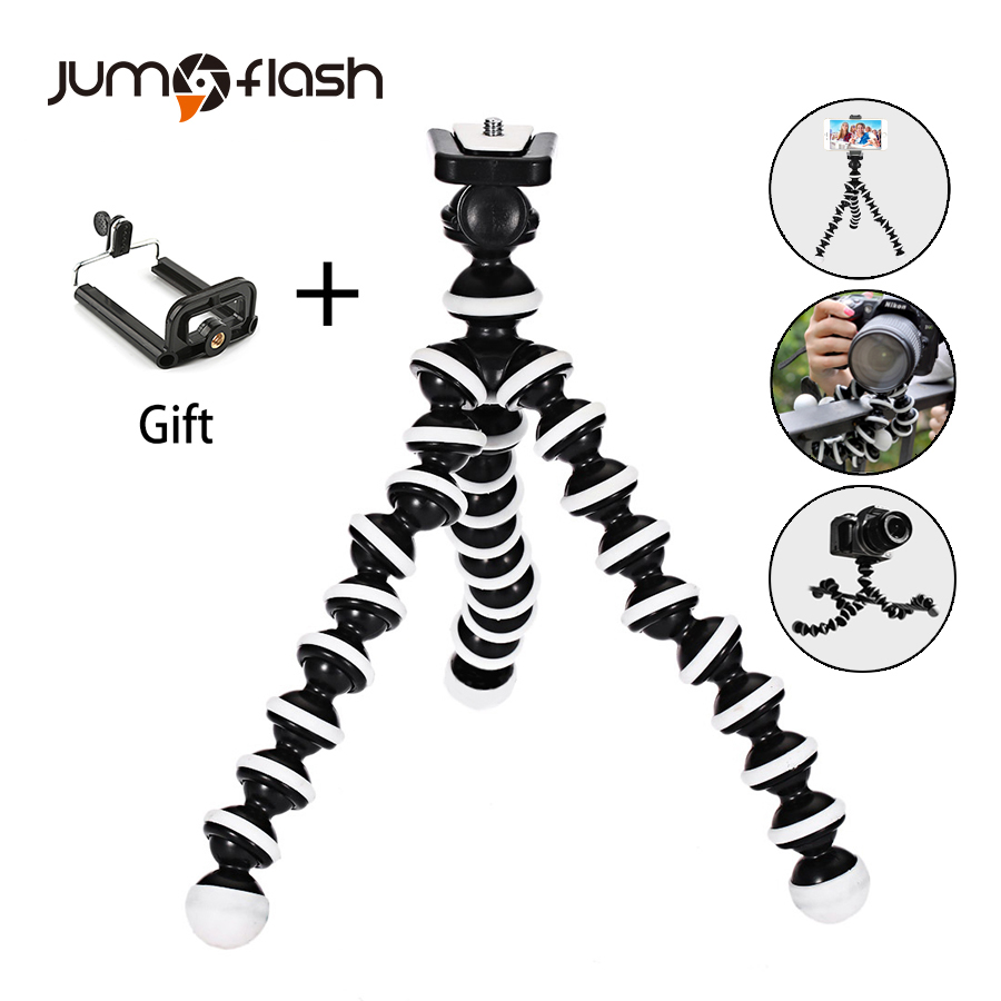Jumpflash Octopus Mini Tripod Bracket Portable Flexible Smartphone Clip Holder Camera Stent Smartphone Tripods Foldable Desktop
