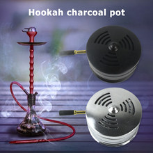 Winddicht Tabak Shisha Holzkohle Halter Metall Nargile Rauchen Shisha Wärme Holzkohle Schüssel für Haushalts Rauchen Ruß Zubehör