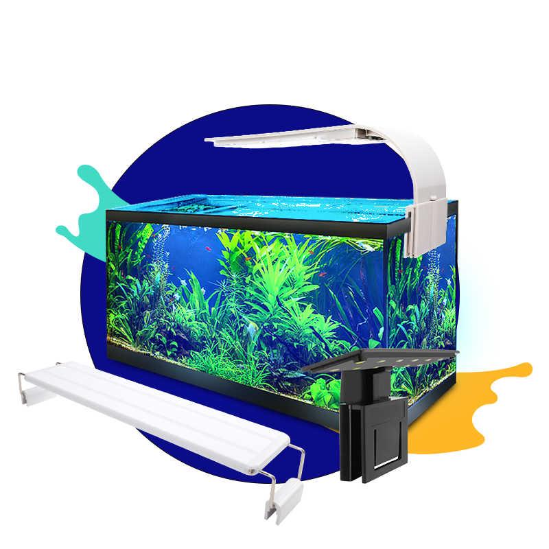 Senzeal pecera acuario Led iluminación Super brillante M3/X3/X5/X7/X9 Clip-on Delgado acuario luz peces LED lámpara 220 V/110 V peceras LED lámpara