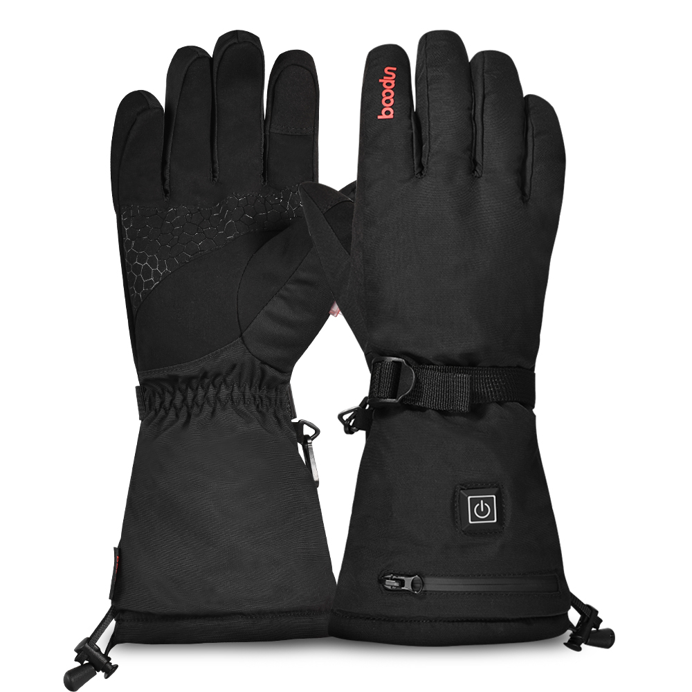 Electric Heated Gloves With Rechargeable Battery Thermal Gloves Hand Warmer Winter Gloves With 3 Levels Temperature Control