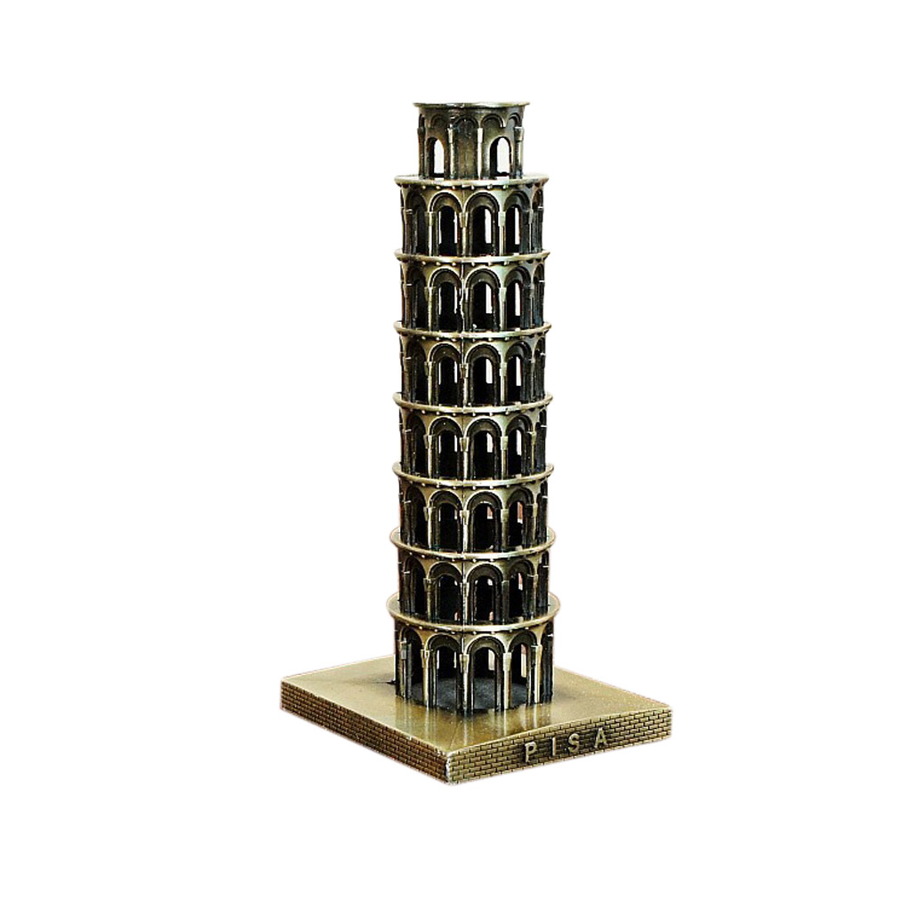 2020 New Tour Souvenir Italy The Leaning Tower of Pisa Souvenir Metal Model Bronze Colors|Figurines & Miniatures| |  - title=