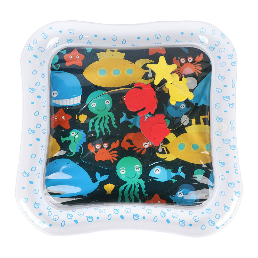 Kid Toys Pat Water Pillow Pat Pad Dual Use Toy Baby Inflatable Knocked Pad Inflatable Bathroom Toy Kid Bath Shower Pad For Child