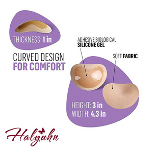 Image 5 - Halyuhn 1 Paar Siliconen Zelfklevende Beha Pads Borst Inserts Ademend Push Up Sticky Beha Cups voor Zwemkleding & Bikini