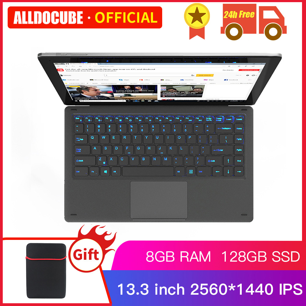 Alldocube KNote X Pro 13.3 Inch Gemini Lake N4100 Windows 10 Quad Core Tablet PC 8GB RAM 128GB SSD 2560*1440IPS Tablets