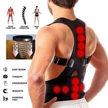 Magnetic Back Posture Corrector adjustable Straps Breathable Panels Shoulder Brace Belt for Men Women s/m/l/xl