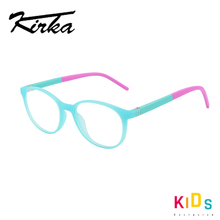 Kirka אופטי מסגרת משקפיים לילדים משקפיים עגול גמיש בנות ילדים מסגרות מחזה פגע צבע ילד משקפיים
