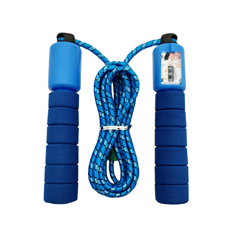 Liang Jian Manufacturers Direct Selling Jump Rope Sports Supplies Machinery Count Plastic Handle Cotton Case Fitness Training Co