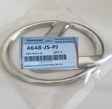 1 pçs 3d abs chrome 66mm * 48mm emblema volante do carro emblema roda de direção adesivo carro estilo do automóvel acessórios