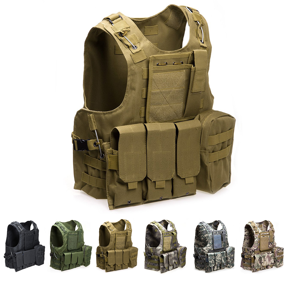 Outlife USMC Airsoft CS Military Molle Combat Assault Plate Carrier Outdoor Clothing Hunting Vest Security Tactical Vest