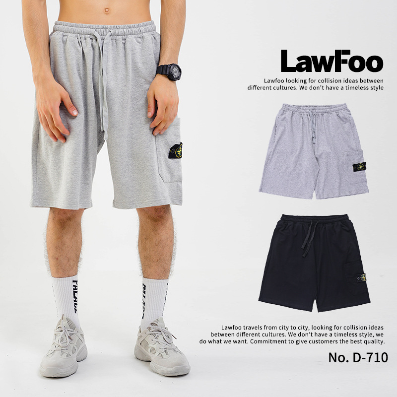 Lawfoo Men'S Wear Spring And Summer New Style Europe And America Popular Brand Aiming Pattern Pocket Men Shorts Casual Pant