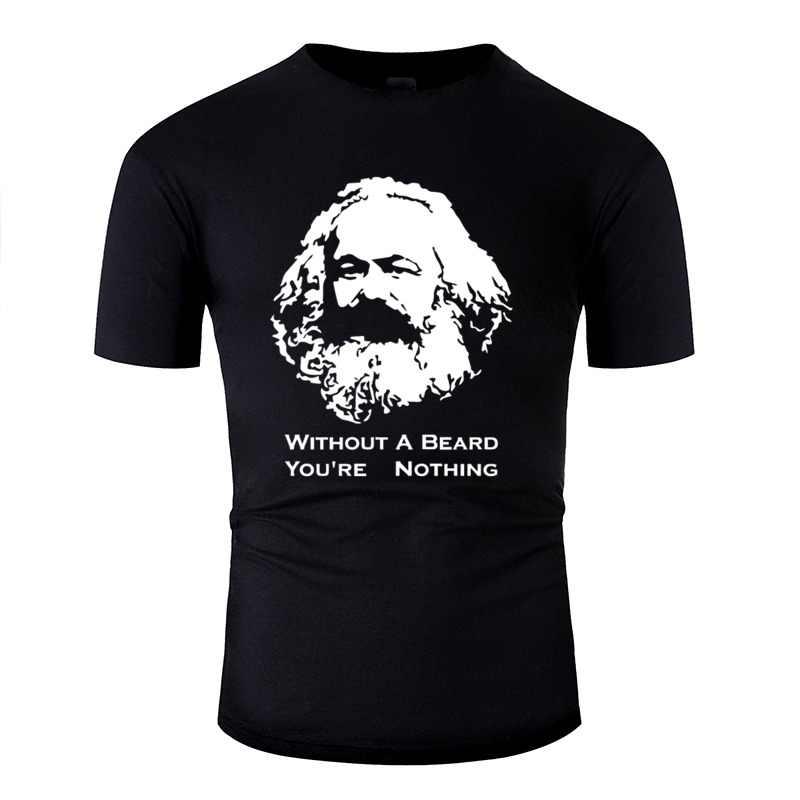 Karl Marx Tanpa Jenggot Anda Kembali Tidak Ada T-shirt Wanita Katun Lucu Leisure T-shirt Putih Wanita 2019 Lengan atasan