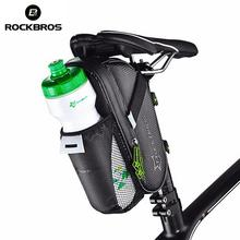 ROCKBROS Waterproof Bicycle Saddle Bag With Water Bottle Pocket MTB Bike Rear Bags Cycling Seat Tail Accessories
