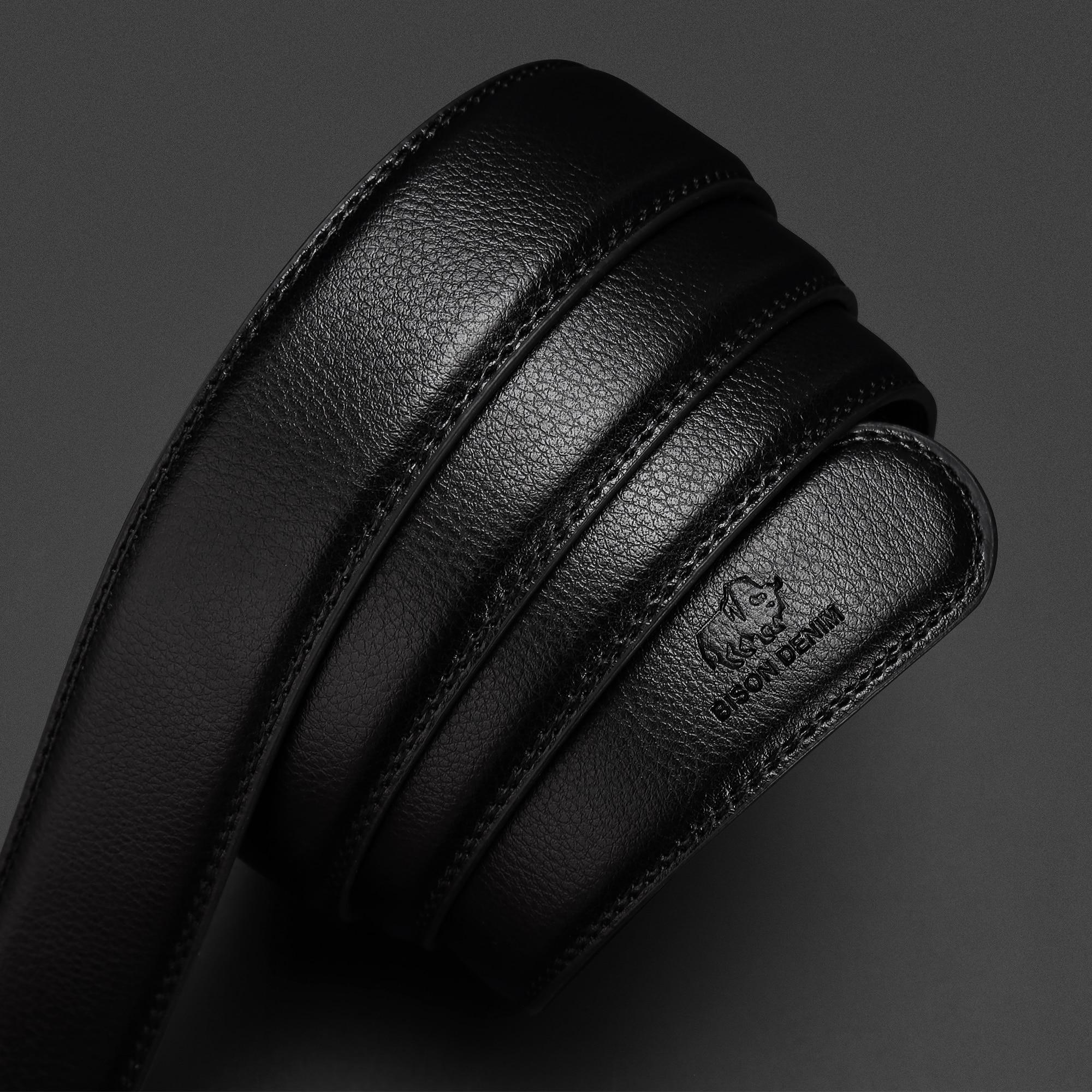 BISON DENIM Genuine Leather Automatic Men Belt Luxury Strap Belt for Men Designer Belts Men High Quality Fashion Belt N71416 4