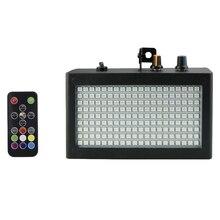 180 LEDs Strobe แฟลชแบบพกพา 35W RGB การควบคุมระยะไกลความเร็ว Strobe ปรับสำหรับ STAGE DISCO Bar PARTY คลับ (EU Plug